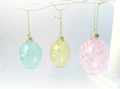 Swirly Glass Eggs