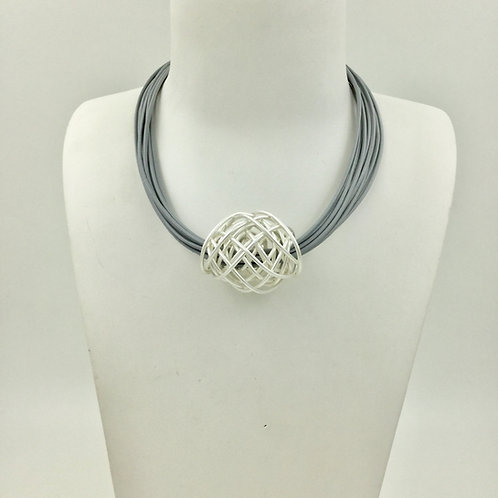 N20016 Silver Nest Necklace