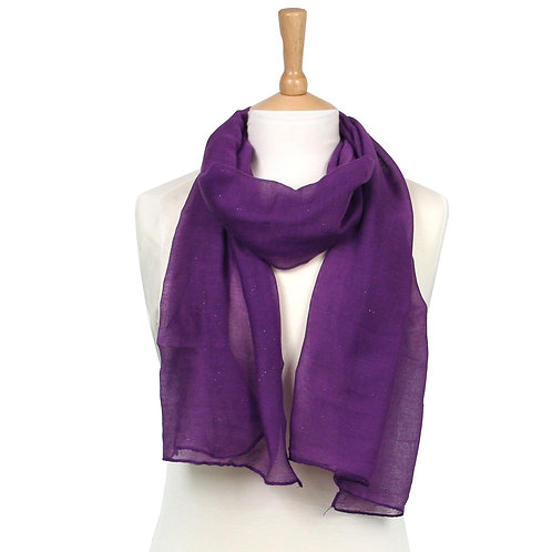 Purple Glitter Scarf
