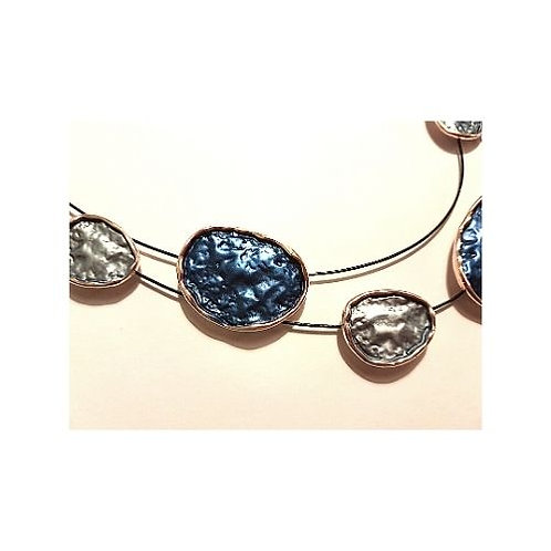 N20018 Blue Pebble Necklace