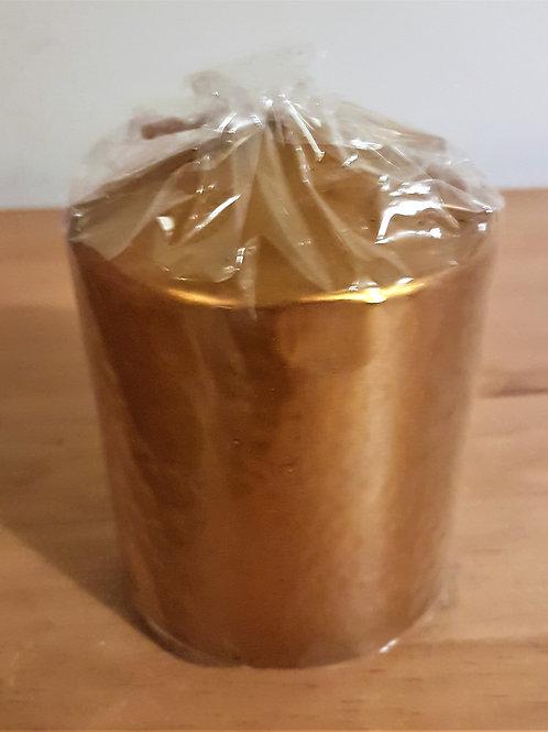 Gold Pillar Candle
