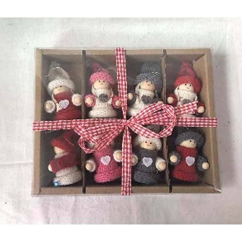 Boxed Set of 8 Fabric Dolls