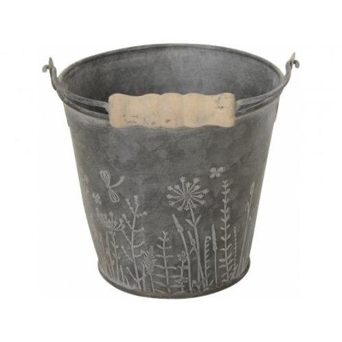 Wild Flower Bucket Planter (Large)