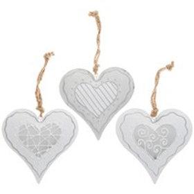 Hanging Grey Hearts