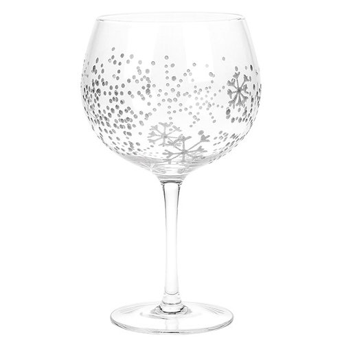 Snowflake Gin Glass