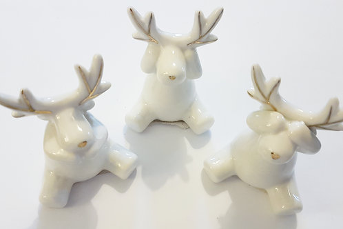 Ceramic Sitting Reindeer