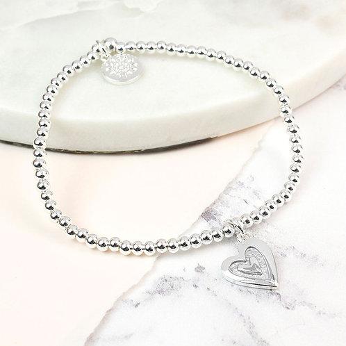 B19016 Inlaid Heart Bracelet