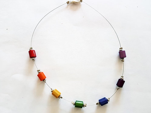 Rainbow Necklace Spacer