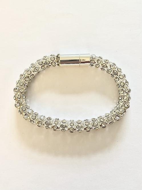 B20017 Silver Crystal Bracelet