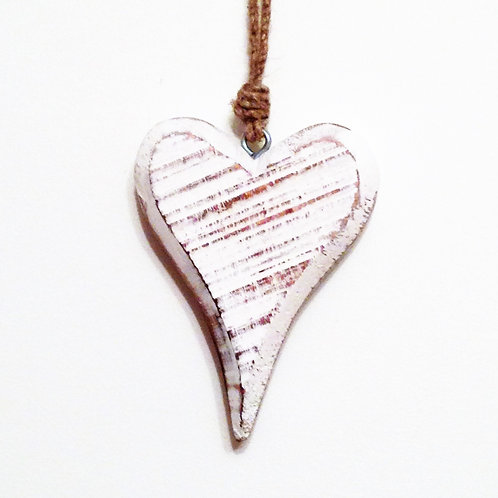 Raw Wood Hanging Heart