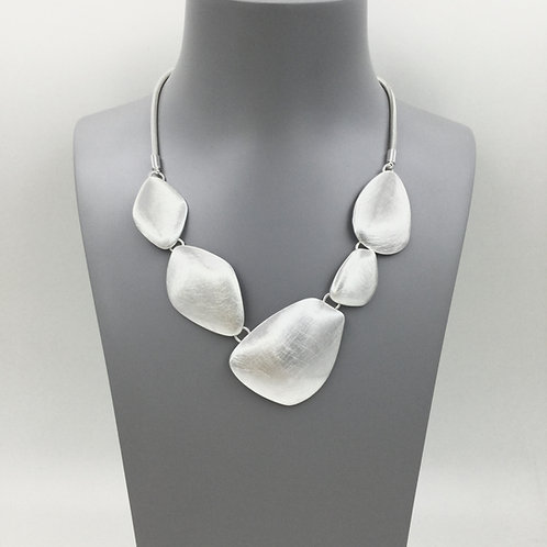 N20015 Large Silver Pebble Necklace
