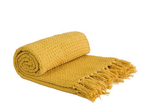 Waffle Blanket - Ochre