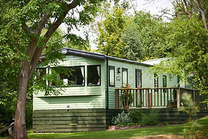 static caravan on a holiday park in shropshire