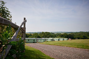 static caravan at denn farm in shropshire