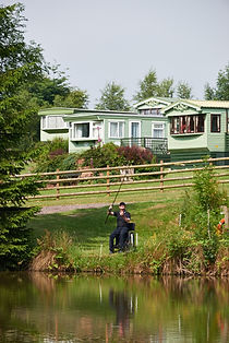 static caravan at the denn farm in shropshire