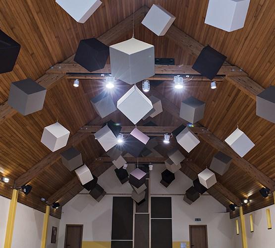 Cubes Acoustiques suspendus