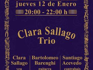 12/01 Clara Sallago Trío en XIX Gins & Cocktails