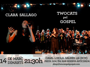 14/03 Twocats pel Gòspel + Clara Sallago Trio