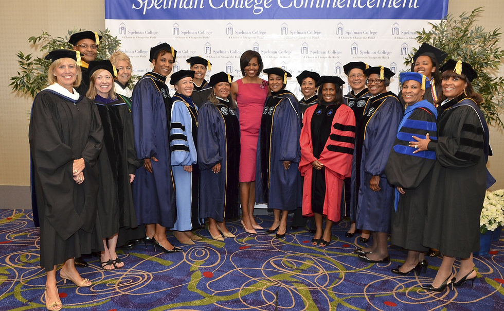 Michelle Obama with trustees.JPG