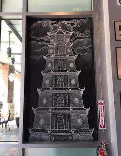 Pagoda Mural at Pho Pho Pho