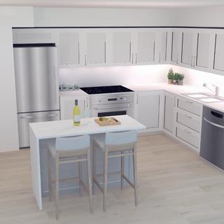 Kitchen Perspective Rendering 2018-12-02