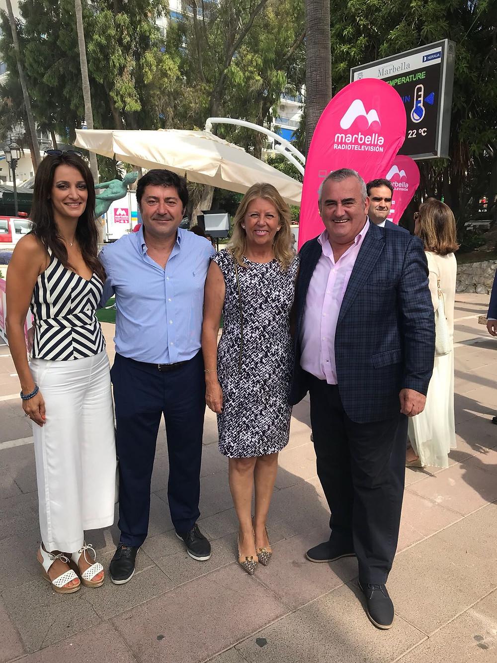 Gilmar con la alcaldesa de Marbella y el presidente del ICTE