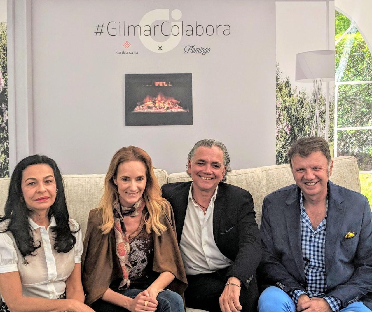 Sandra Ibarra y Juan Ramón Lucas (en el centro) con Carmen Oset  y Jesús Gil Marín (a los lados).