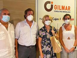 Aguirre en el Aula cultural de Vista Hermosa que patrocina Gilmar