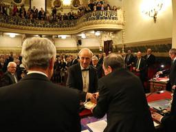 GILMAR con el doctor Pedro Guillén en su toma de posesión como Académico de Medicina