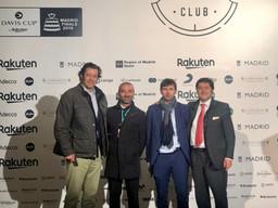 Con el equipo español de la Copa Davis