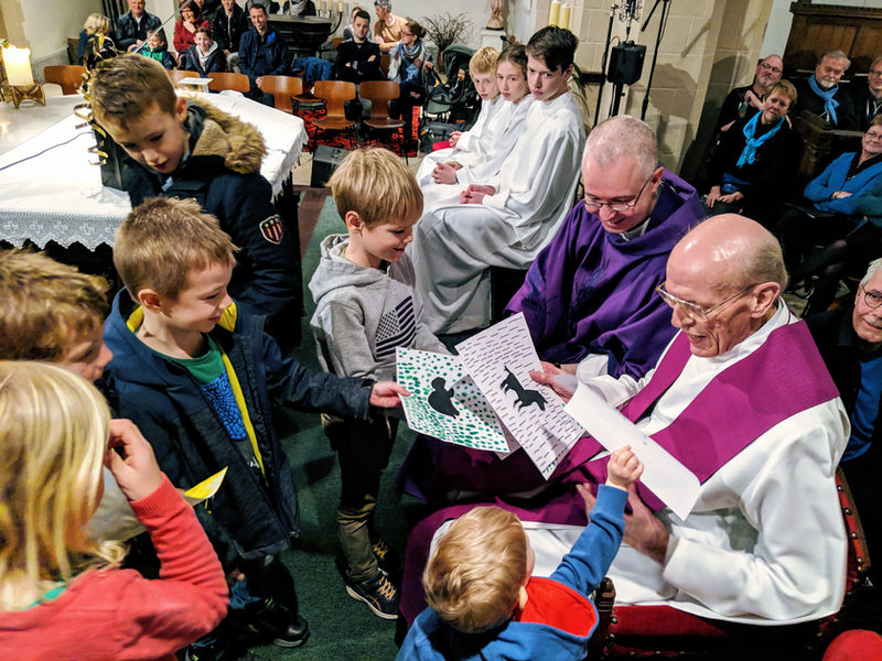 Pater Beeckmans wordt gevierd