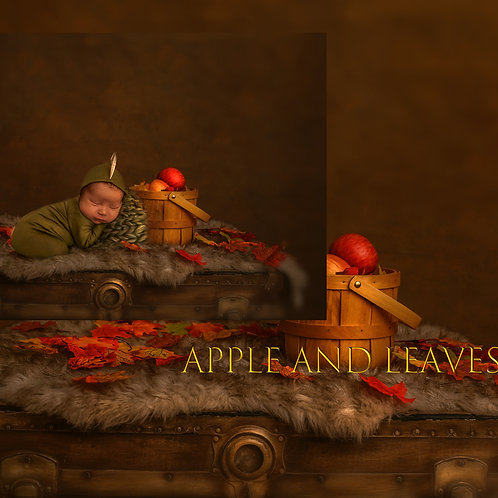 APPLE AND LEAVES