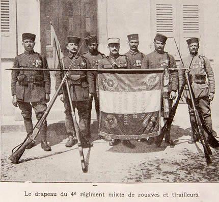 En mémoire des soldats du 4e Régiment Mixte de Zouaves et Tirailleurs