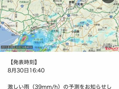 폭우 暴雨