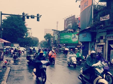 하노이는 오늘 비 ハノイは今日雨