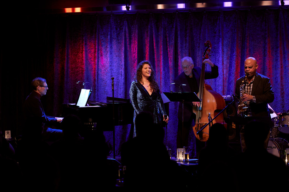 CD release concert at Birdland Theater with Steve Wilson, Ray Gallon, Jay Leonhart and Vito Lesczak. Picture by James Treadwell