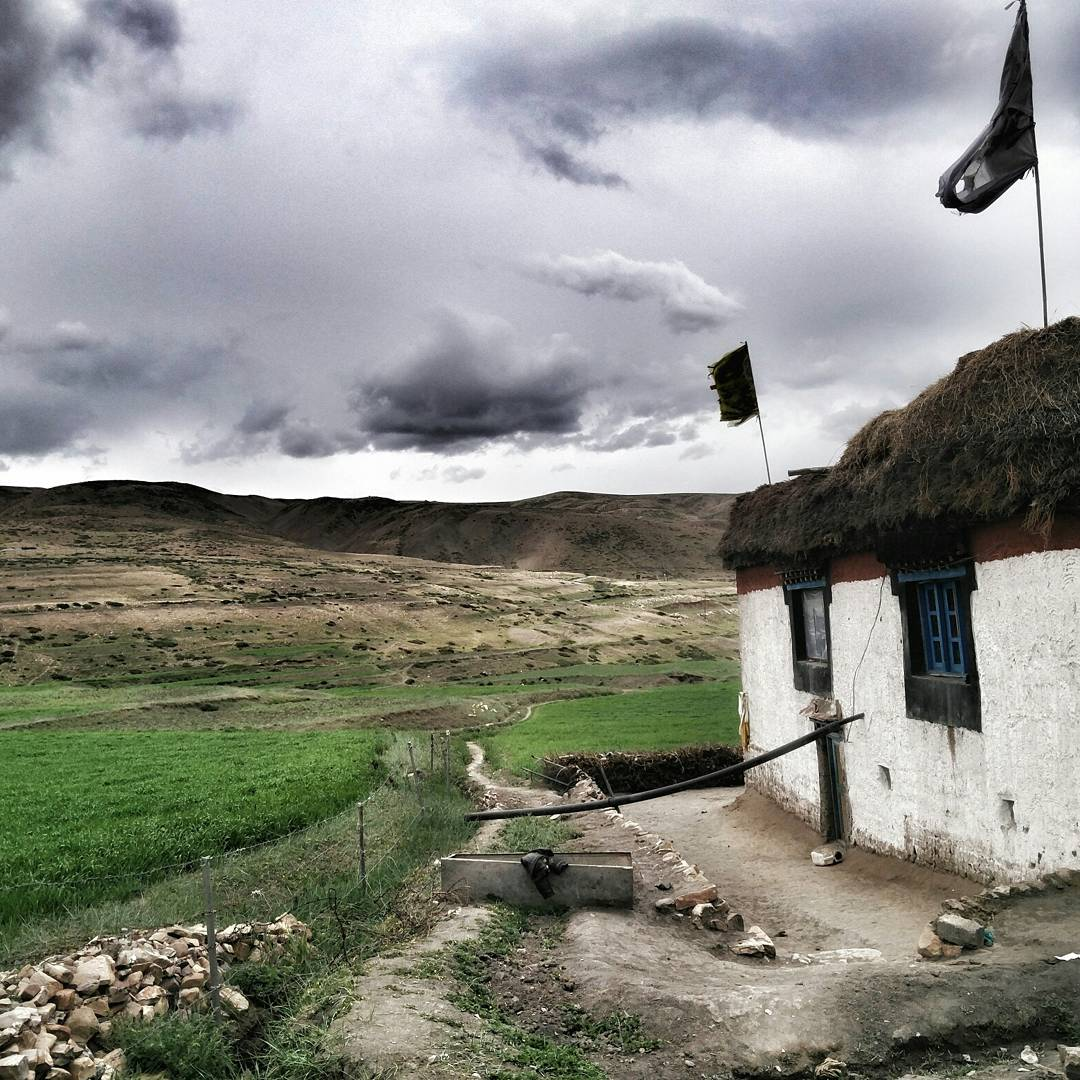 Traditional Himalayan mud architecture, Langza, Spiti Valley, Himachal Pradesh,Himalayas, India