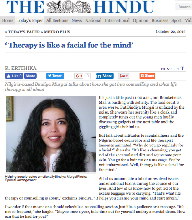 Mental health and counselling in India