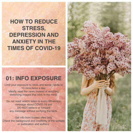 How to reduce stress, anxiety and depression in the times of Covid-19