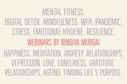 Webinars by Bindiya Murgai