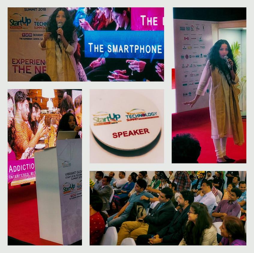 Keynote Speaker on Digital Detox at the Vibrant Gujarat Start-Up and Technology Summit