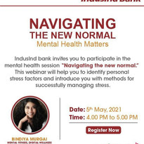 Mental Health webinars by Bindiya Murgai