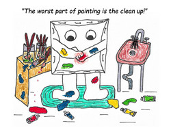 The clean up