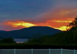 Hudson River sunset view