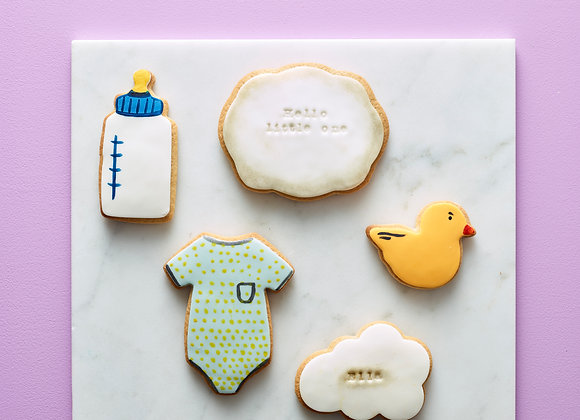 New Baby Personalised Biscuit Gift Set