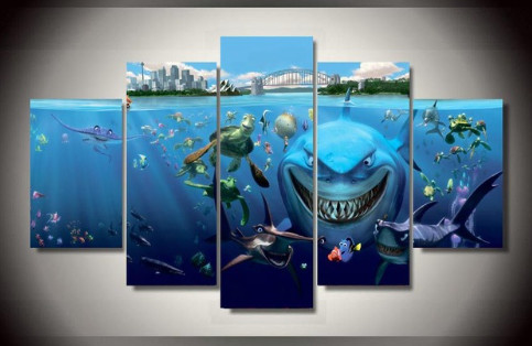 5 Panel Finding Nemo Modern Home Wall Decor | Welcome To Canvas ...
