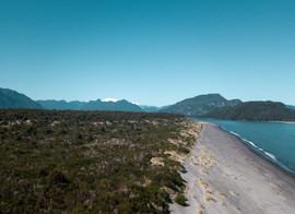 Playa grande en Bajo Palena