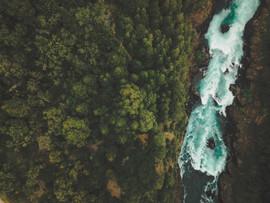 Vista aérea Quebrada del Diablo