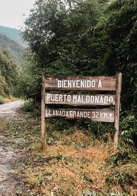 Bienvenida a Puerto Maldonado
