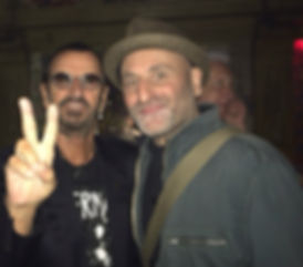 Ringo Starr with Martin Muscatt (Taurus Trakker)